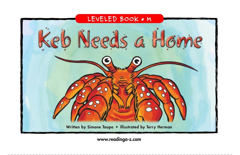 Book Preview For Keb Needs a Home Page 1