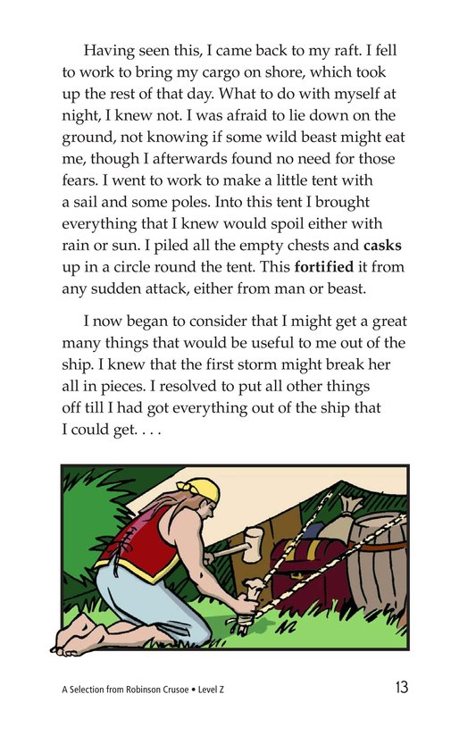 Book Preview For A Selection From Robinson Crusoe Page 13