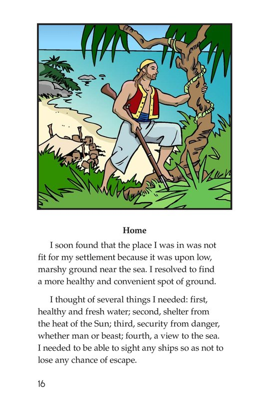 Book Preview For A Selection From Robinson Crusoe Page 16