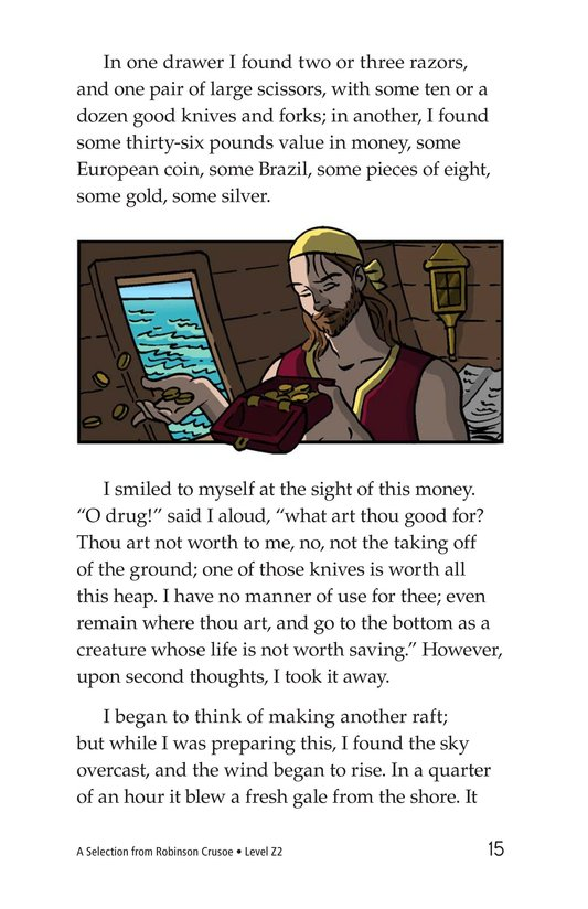 Book Preview For A Selection From Robinson Crusoe Page 15