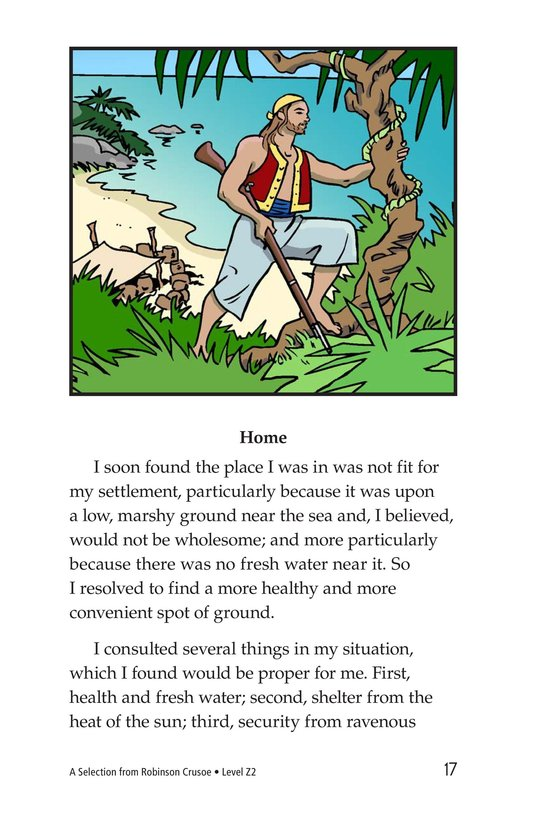 Book Preview For A Selection From Robinson Crusoe Page 17