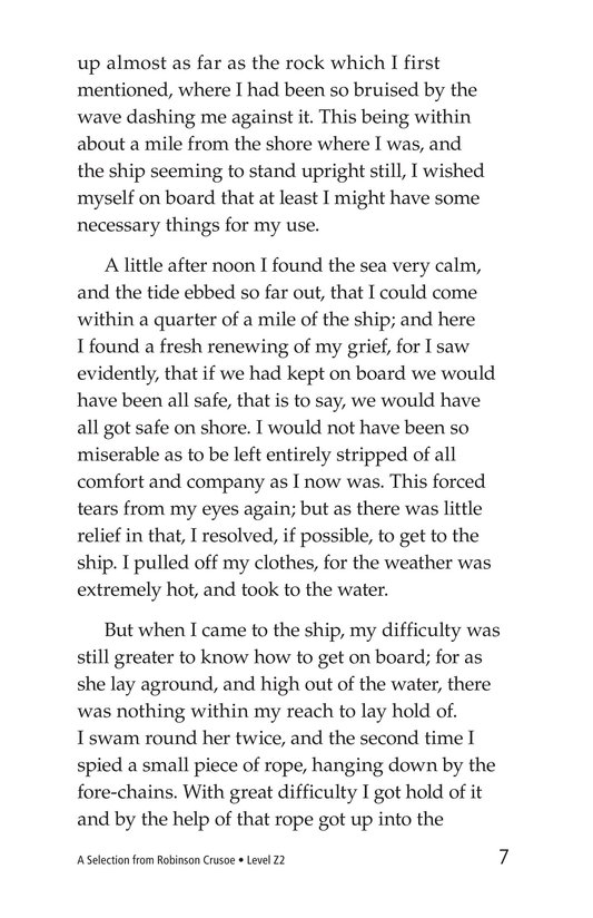 Book Preview For A Selection From Robinson Crusoe Page 7