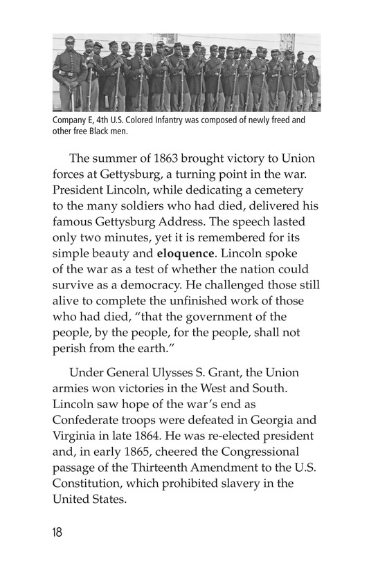 Book Preview For Abraham Lincoln: From Log Cabin to the White House Page 18