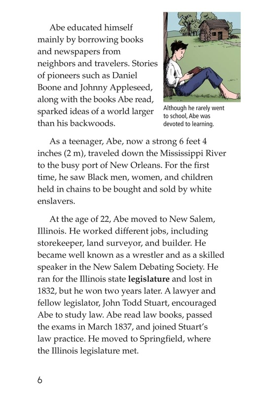 Book Preview For Abraham Lincoln: From Log Cabin to the White House Page 6