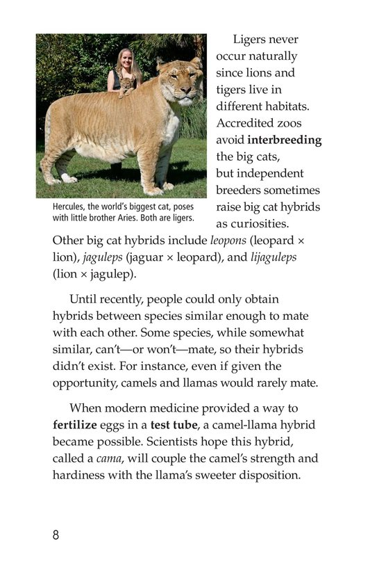 Book Preview For Hybrid Animals Page 8