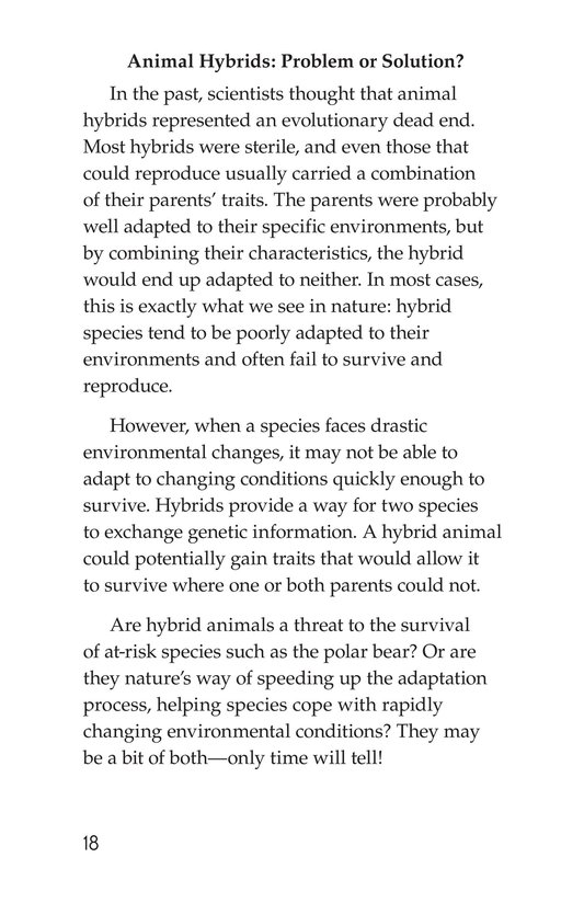 Book Preview For Hybrid Animals Page 18