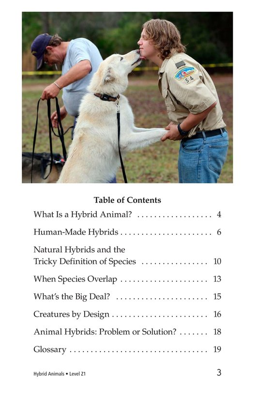 Book Preview For Hybrid Animals Page 3