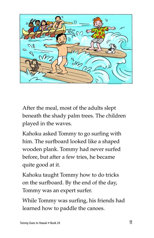 Book Preview For Tommy Goes To Hawaii Page 11