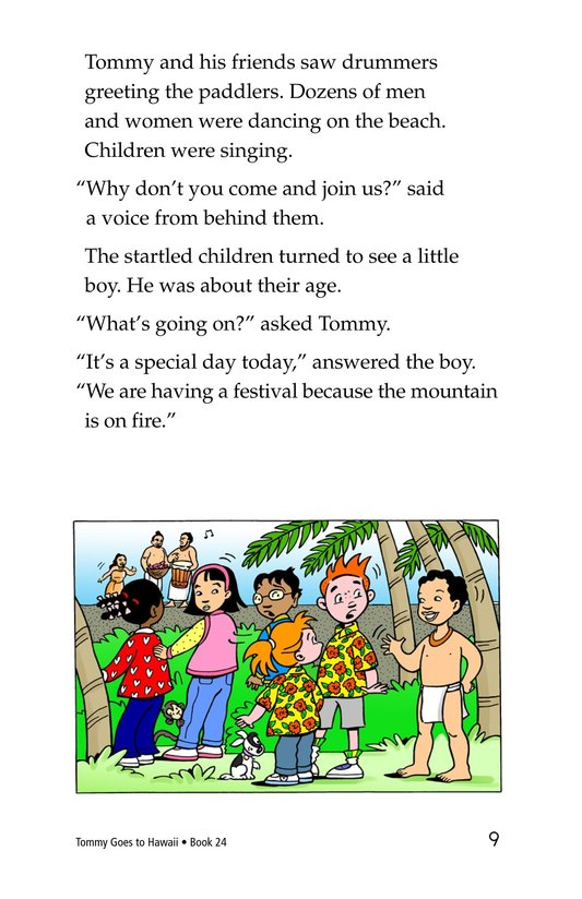 Book Preview For Tommy Goes To Hawaii Page 9