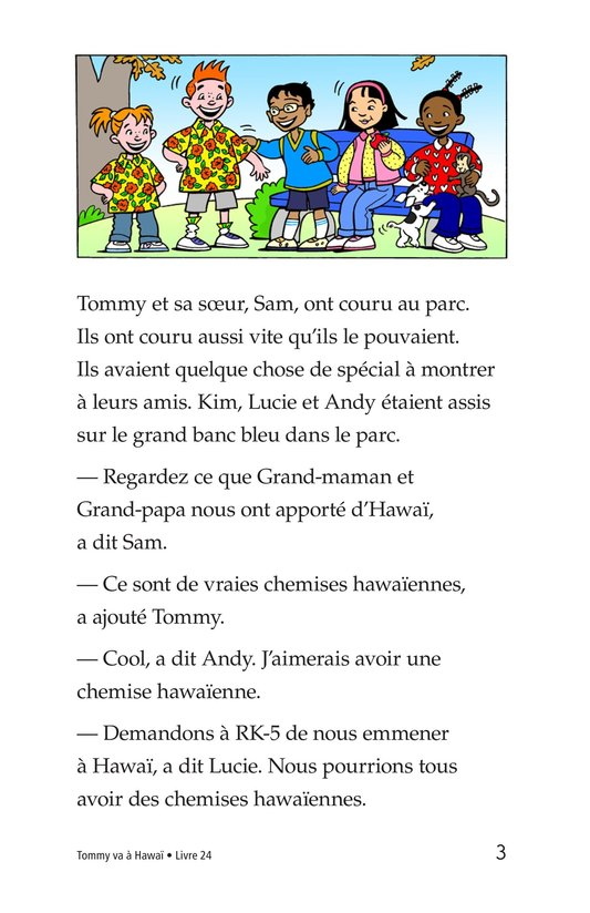 Book Preview For Tommy Goes To Hawaii Page 3