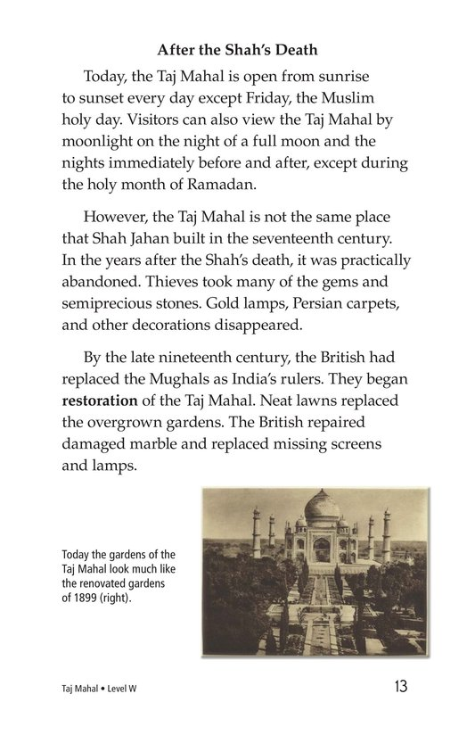 Book Preview For Taj Mahal Page 13