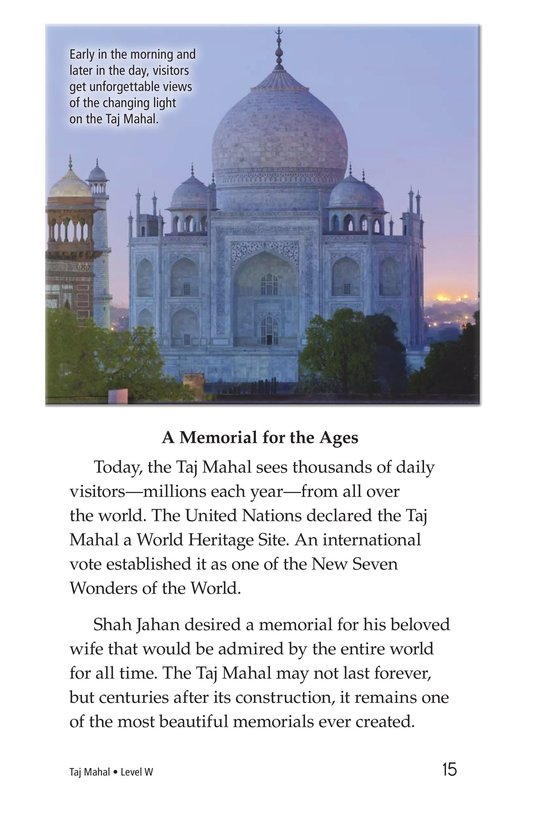 Book Preview For Taj Mahal Page 15