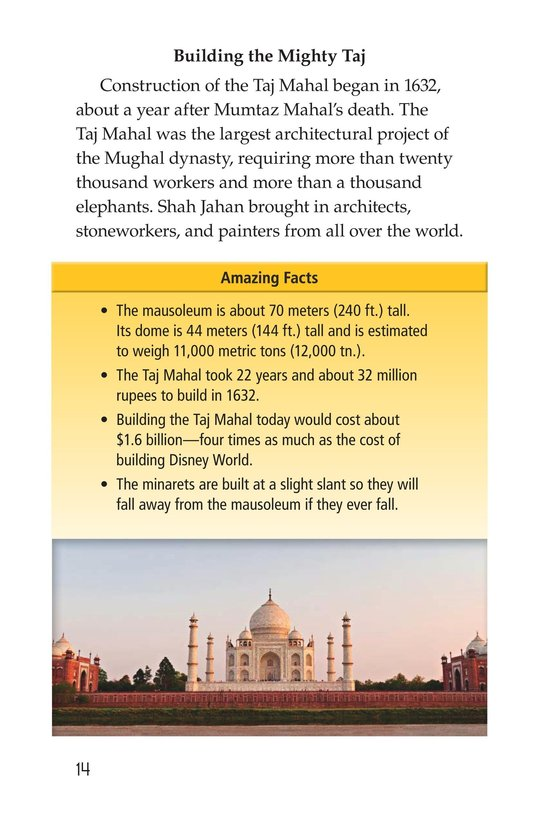 Book Preview For Taj Mahal Page 14