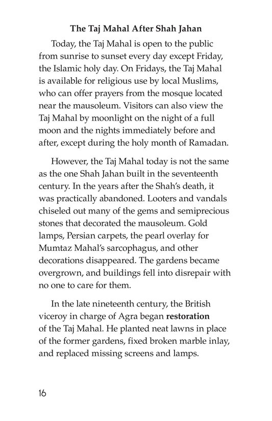 Book Preview For Taj Mahal Page 16