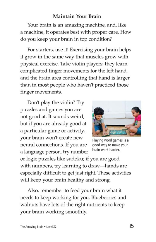 Book Preview For The Amazing Brain Page 15