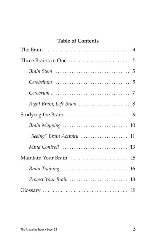 Book Preview For The Amazing Brain Page 3