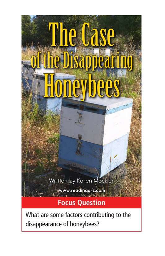 Book Preview For The Case of the Disappearing Honeybees Page 1