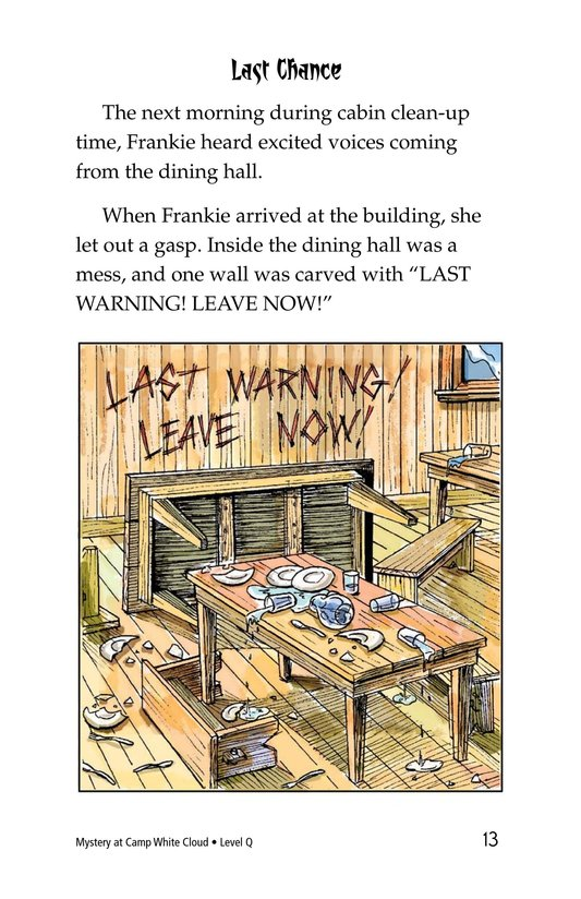 Book Preview For Mystery at Camp White Cloud Page 13