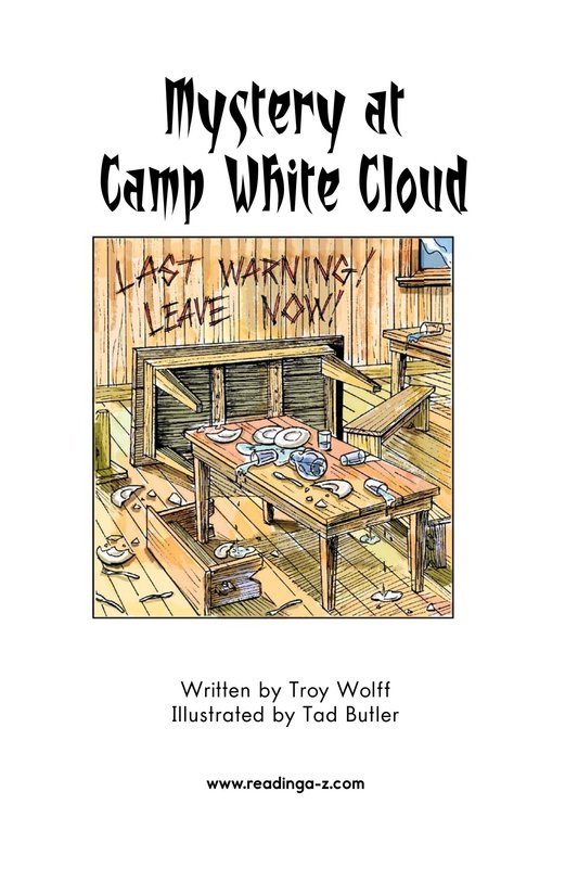 Book Preview For Mystery at Camp White Cloud Page 2