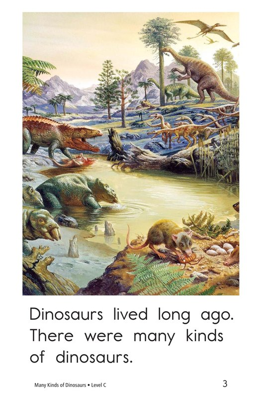 Book Preview For Many Kinds of Dinosaurs Page 3
