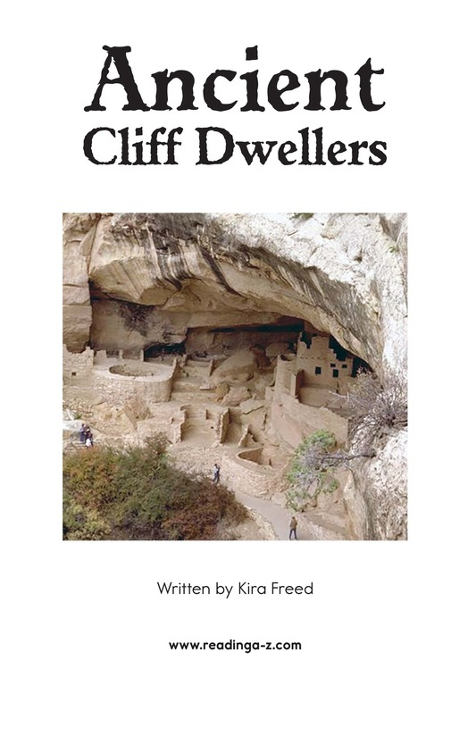 Book Preview For Ancient Cliff Dwellers Page 2