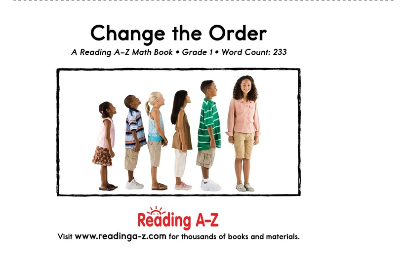 Book Preview For Change the Order Page 2