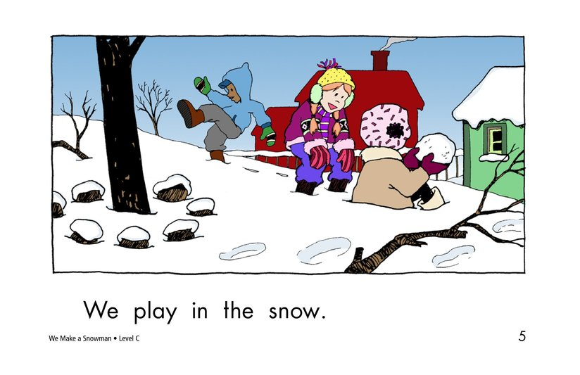 Book Preview For We Make a Snowman Page 5