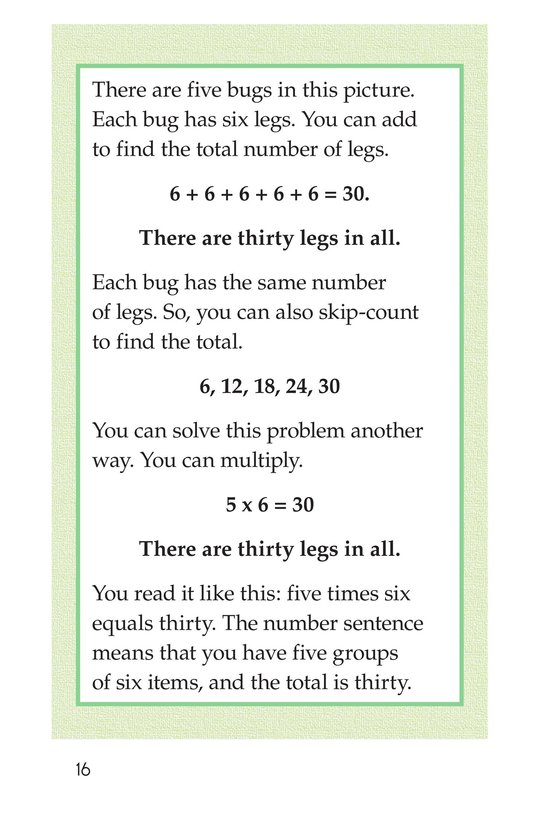 Book Preview For Real-Life Multiplication Page 16
