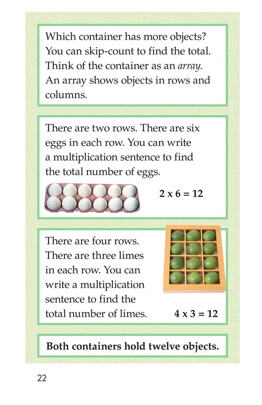 Book Preview For Real-Life Multiplication Page 22