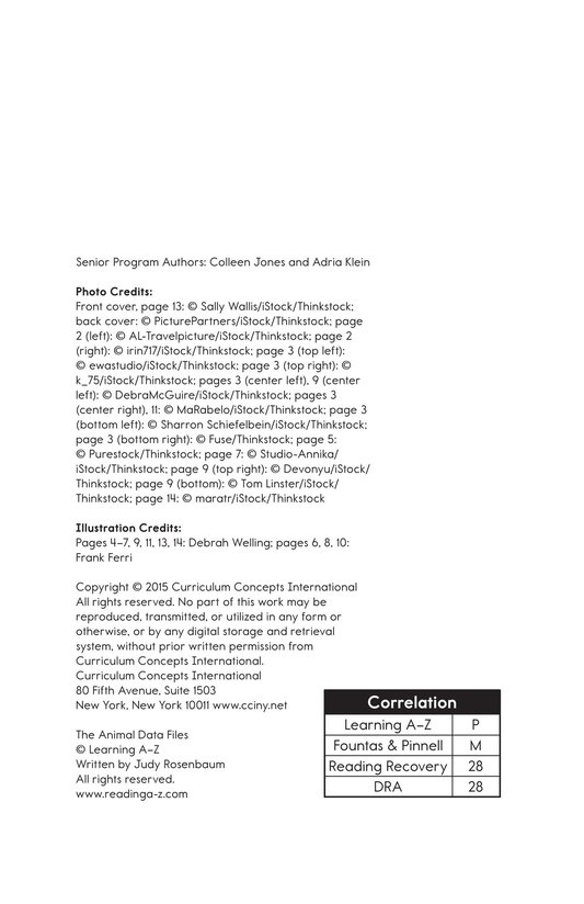 Book Preview For The Animal Data Files Page 1