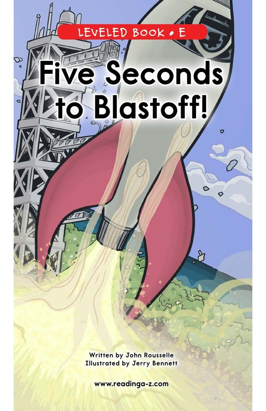 Book Preview For Five Seconds to Blastoff! Page 0