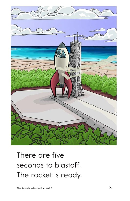 Book Preview For Five Seconds to Blastoff! Page 3