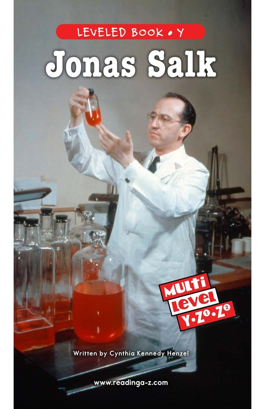 Book Preview For Jonas Salk Page 0