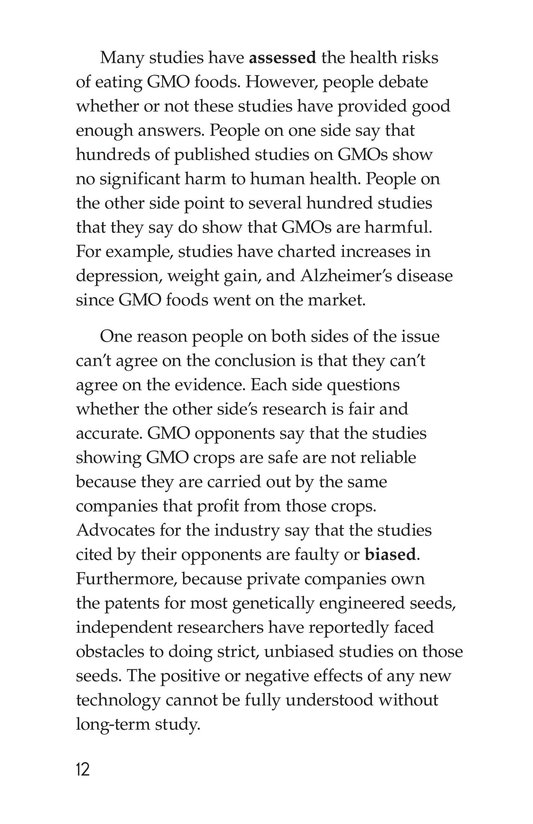 Book Preview For Are GMOs Safe? Page 12
