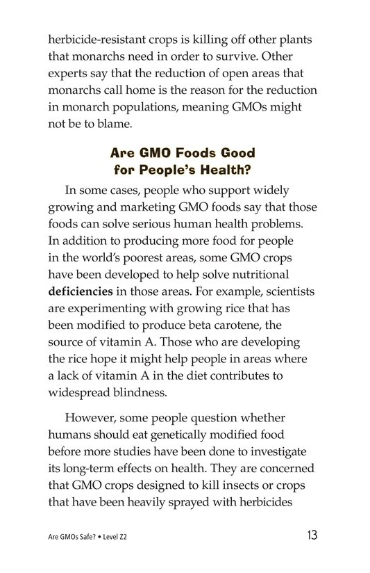 Book Preview For Are GMOs Safe? Page 13