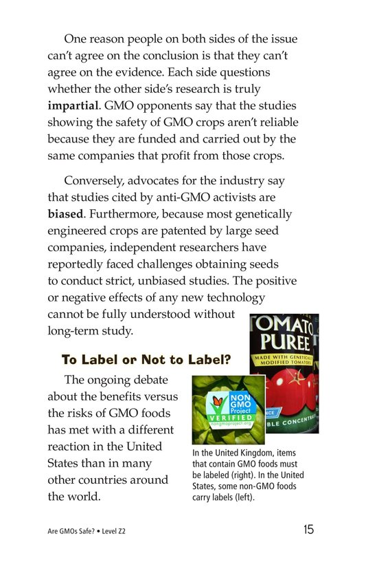 Book Preview For Are GMOs Safe? Page 15