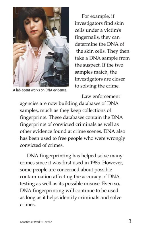 Book Preview For Genetics at Work Page 13