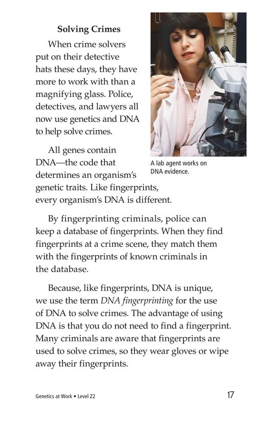 Book Preview For Genetics At Work Page 17