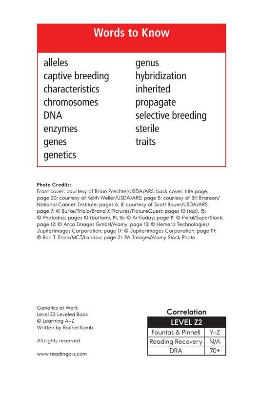 Book Preview For Genetics At Work Page 2