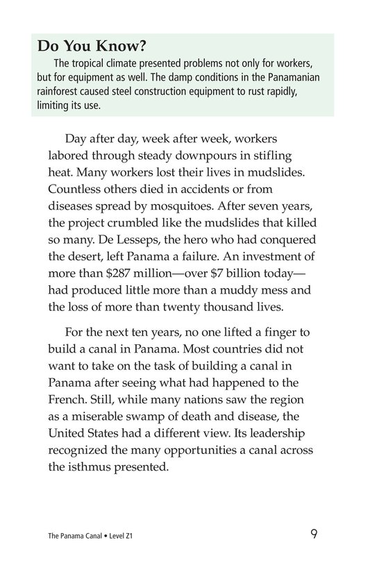 Book Preview For The Panama Canal Page 9