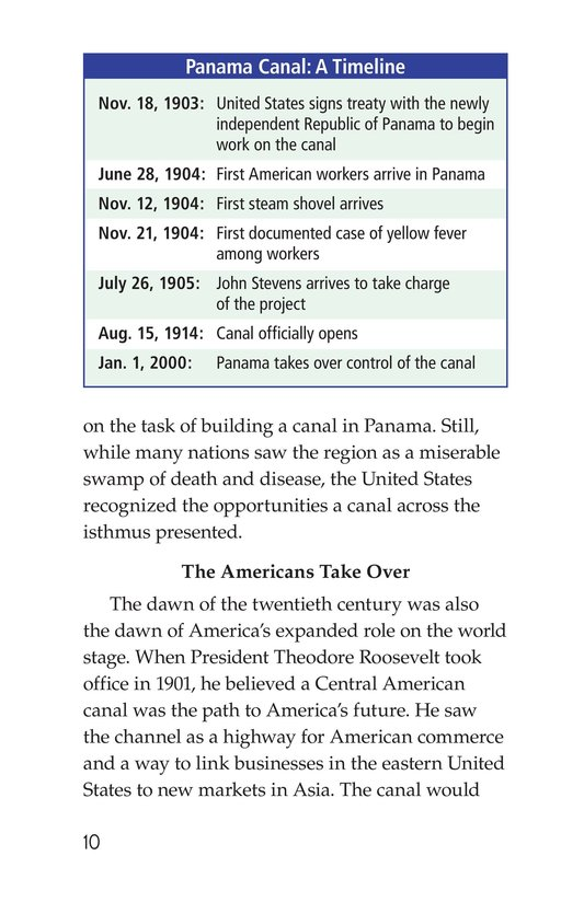 Book Preview For The Panama Canal Page 10