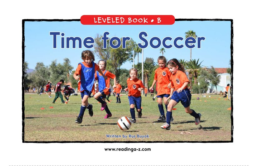 Book Preview For Time for Soccer Page 0