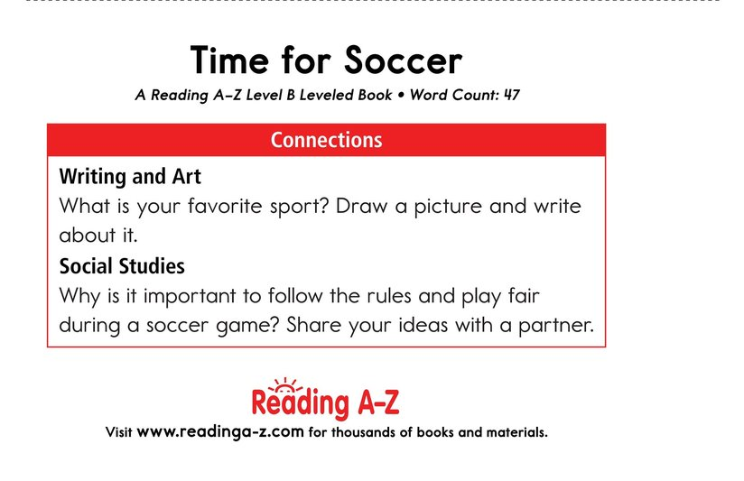 Book Preview For Time for Soccer Page 11