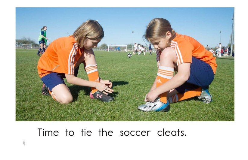 Book Preview For Time for Soccer Page 4