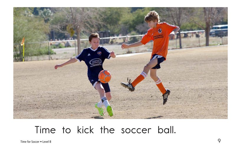 Book Preview For Time for Soccer Page 9