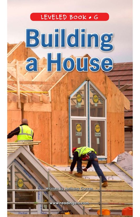 Book Preview For Building a House Page 0