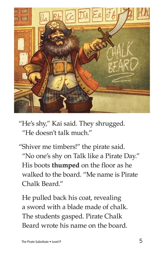 Book Preview For The Pirate Substitute Page 5