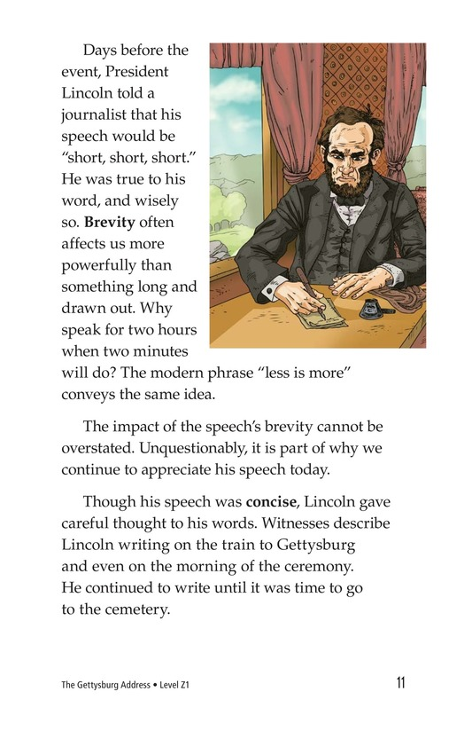Book Preview For The Gettysburg Address Page 11