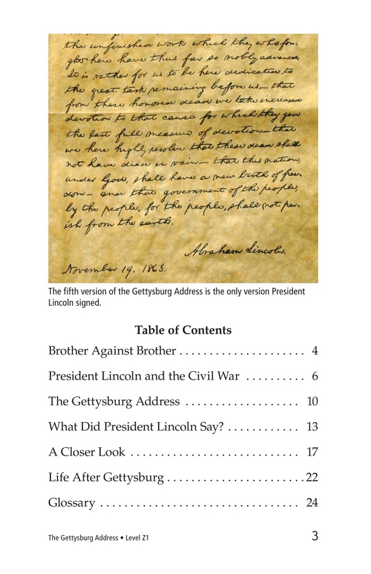 Book Preview For The Gettysburg Address Page 3