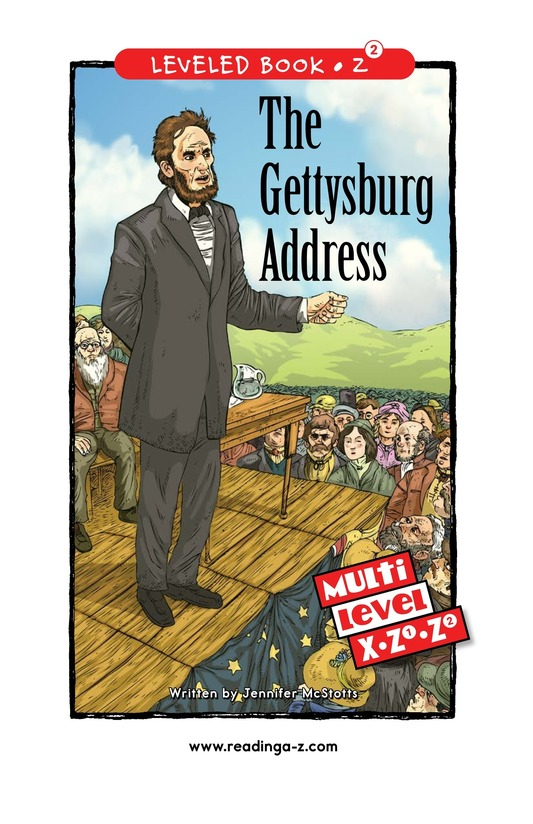 Book Preview For The Gettysburg Address Page 0